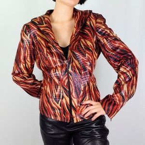 90's Cache animal print jacket